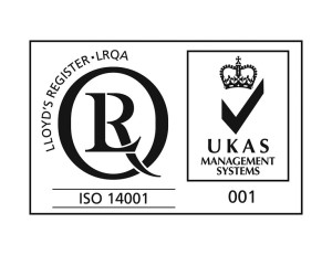 ISO14001 UKAS Accreditated, Lloyds Register, LRQA, Environmental quality systems